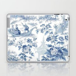 Powder Blue Chinoiserie Toile Laptop & iPad Skin