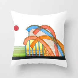 Symphony Pavilion for Outdoor Sounds 93 Throw Pillow