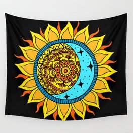 Sun and Moon Mandala Wall Tapestry