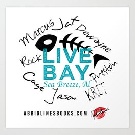 Live Bay Sea Breeze, AL Art Print
