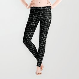 Black Burlap texture  Leggings