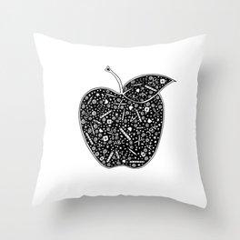 Teacher's apple Throw Pillow