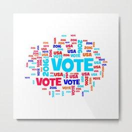 Vote USA 2016 Metal Print