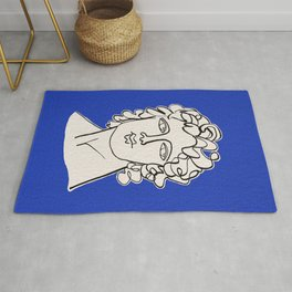 Alexander the Great statue Rug