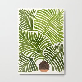 Summer Fern / Simple Modern Watercolor Metal Print
