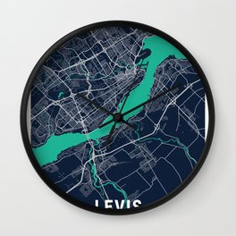 Levis Blue Dark Color City Map Wall Clock
