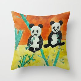 Pandas Throw Pillow
