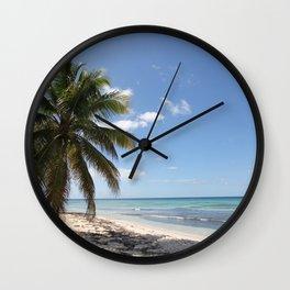 Isla Saona Caribbean Paradise Beach Wall Clock