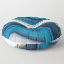 Blue Agate Floor Pillow