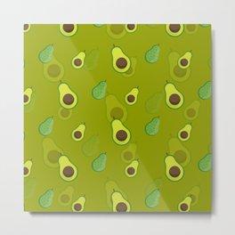 Avocado Pattern Avocado Fruit Love Avocados Metal Print
