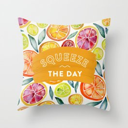 Squeeze the Day – Multi Palette Throw Pillow