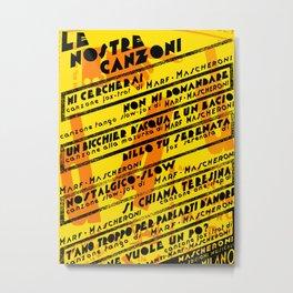Vintage Italian and Dada Poster Graphic Design Vector Art Metal Print