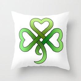 Celtic Clover Throw Pillow