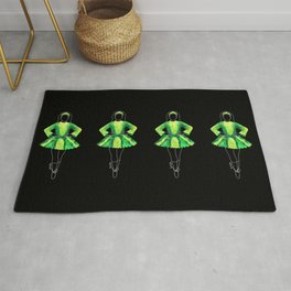Irish Dancer green Rug