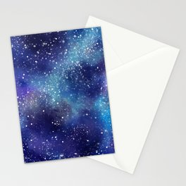 Abstract Galaxy Space Paint Pattern Texture #8 Stationery Cards