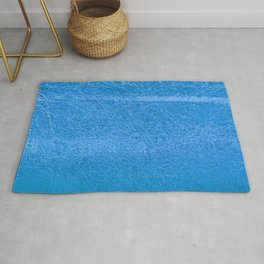 Crinkled Frost Blue Foil Texture Christmas/ Holiday Rug