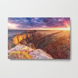 Purple Sunset at the Grand Canyon Metal Print