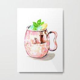 Moscow Mule - Cocktail Season Metal Print
