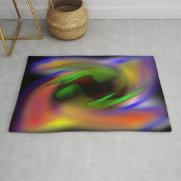 Curves of Color Rug
