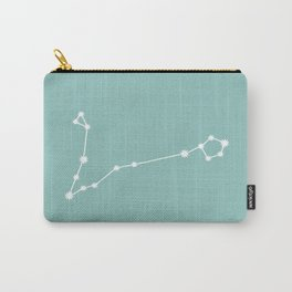 Pisces Zodiac Constellation - Teal Carry-All Pouch