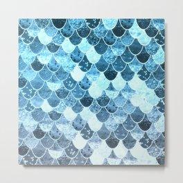 REALLY MERMAID SILVER BLUE Metal Print