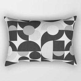 Mid Century Shapes N.09 / Monochrome Minimalism Rectangular Pillow