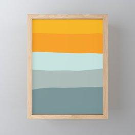 Zen Ocean Stripes Framed Mini Art Print