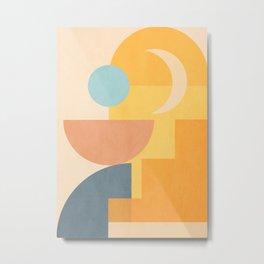 Minimal Geometric Shapes 157 Metal Print