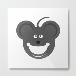 Cute Mouse Face  #society6 #tapestry #posters #artprint Metal Print