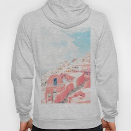 Mamma Mia Greece Pink streets old village photography in HD Hoody