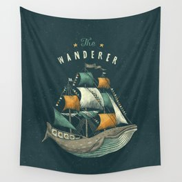 Whale   Petrol Grey Wall Tapestry