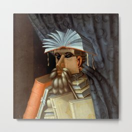 "Giuseppe Arcimboldo ""The librarian"" Metal Print"