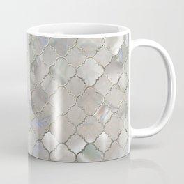 Quatrefoil Moroccan Pattern Mother of Pearl Coffee Mug