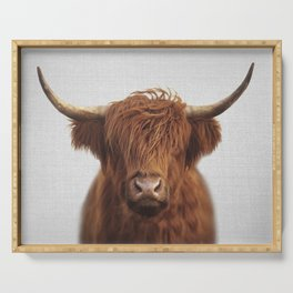 Highland Cow - Colorful Serving Tray
