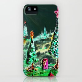 Nightime, Neon, Christmas Delight iPhone Case