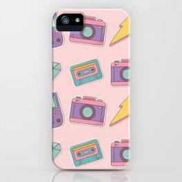 Kawaii Camera Sticker Pattern iPhone Case