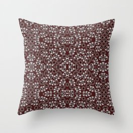Retro pattern in red Throw Pillow