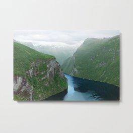 Mountains To The Sea (Geirangerfjord, Norway) Metal Print