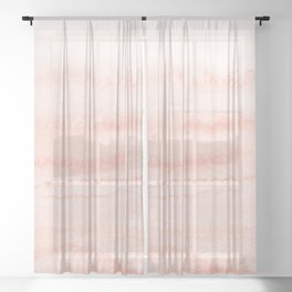 WITHIN THE TIDES - LIVING CORAL Sheer Curtain