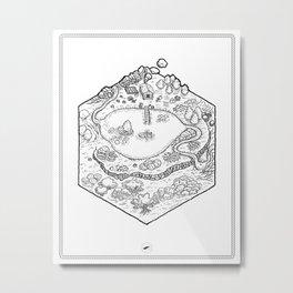 Adventurer's Retreat - RPG Hex Map Metal Print