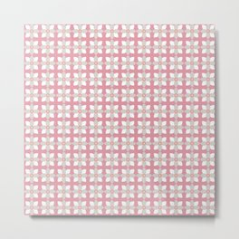 Tiny Daisies In The Pink Metal Print