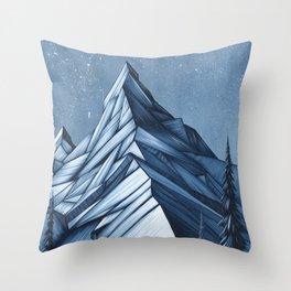 'Cystal Mountain I' Throw Pillow