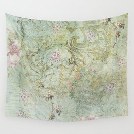 Vintage French Floral Wallpaper Wall Tapestry