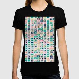 Dollar Pattern 60s T-shirt