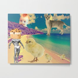 They Couldn't Take Their Eyes Off Him Metal Print