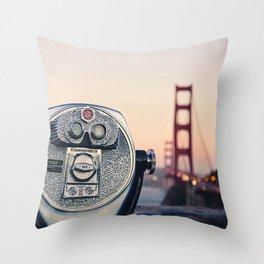 Golden Gate Sunset Throw Pillow