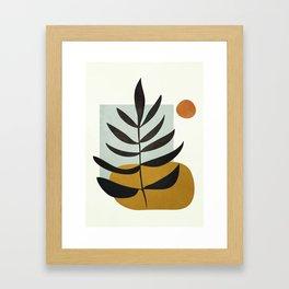 Soft Abstract Large Leaf Framed Art Print