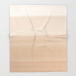 Touching Warm Beige Watercolor Abstract #1 #painting #decor #art #society6 Throw Blanket