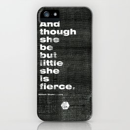 Little and Fierce iPhone Case