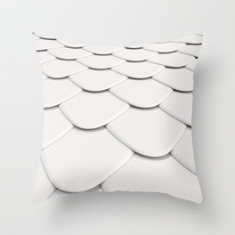 Pattern of white rounded roof tiles Throw Pillow